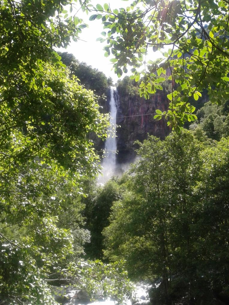 Waterfall in Foroglio, Val Bavona