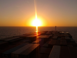 Sunset on Hanjin Lisbon