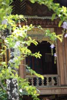 Beautiful old traditional architecture in Champasak