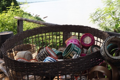 Colourful sticky rice baskets