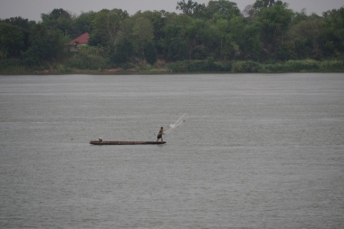 Fisherman near Don Khong Island