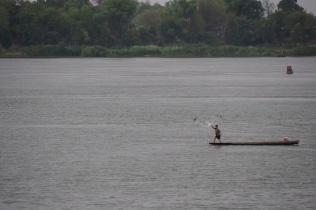 Fisherman near Don Khong Island