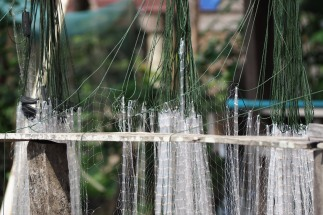 Fisher nets drying in the sun