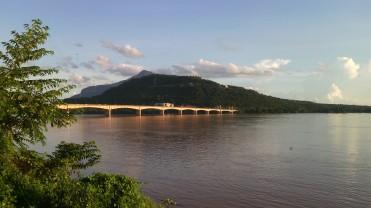 Japanese bridge spanning over Mekong