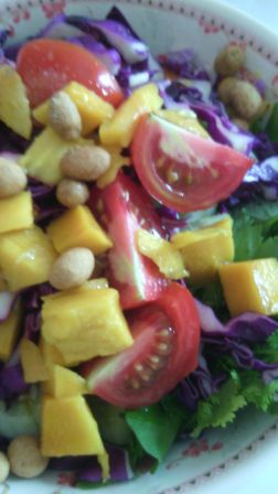 Fresh salad with mango