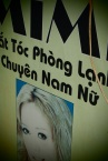 Vietnamese signboard for beauty salon in Pakse next to my house
