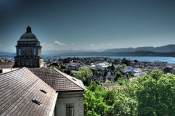 View of Zurich from the ETH rooftop